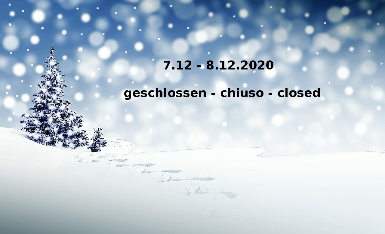 7th – 8th of December 2020 closed