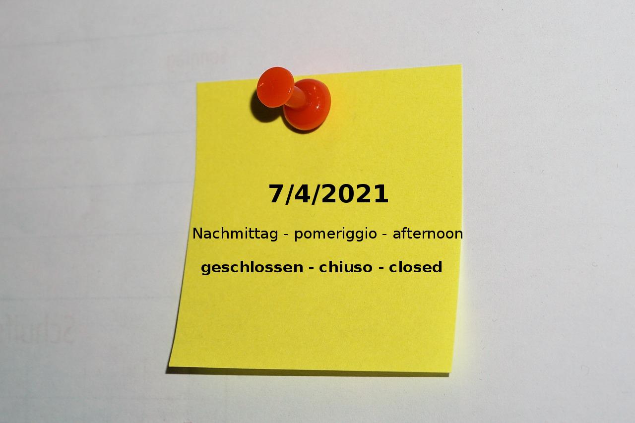 7/4/2021 pomeriggio chiuso